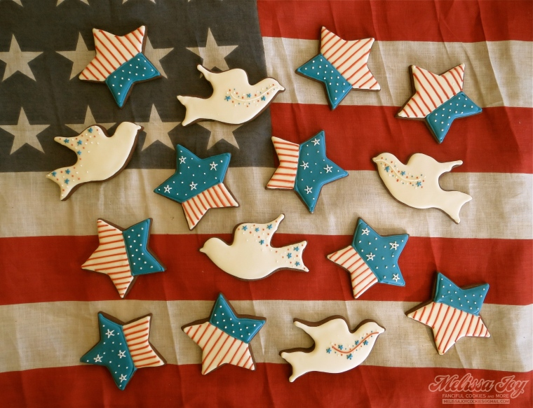 Stars and Peace Doves on Old Glory