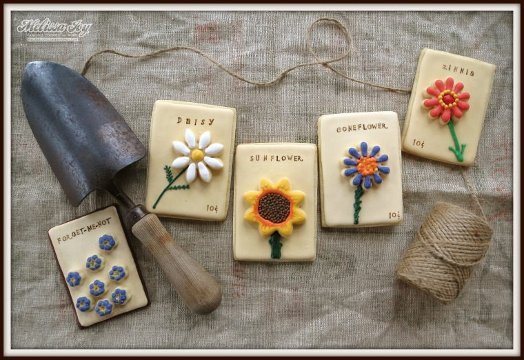 chocolate flower seed packets