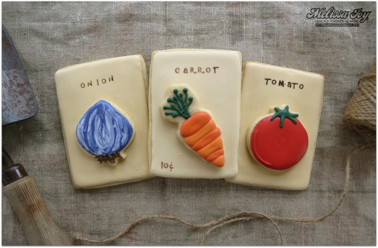 onion carrot tomato seed packet