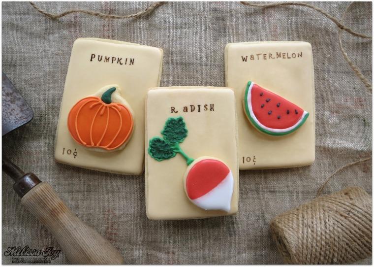 pumpkin radish melon seed packets