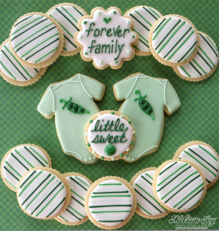 forever family shower cookies