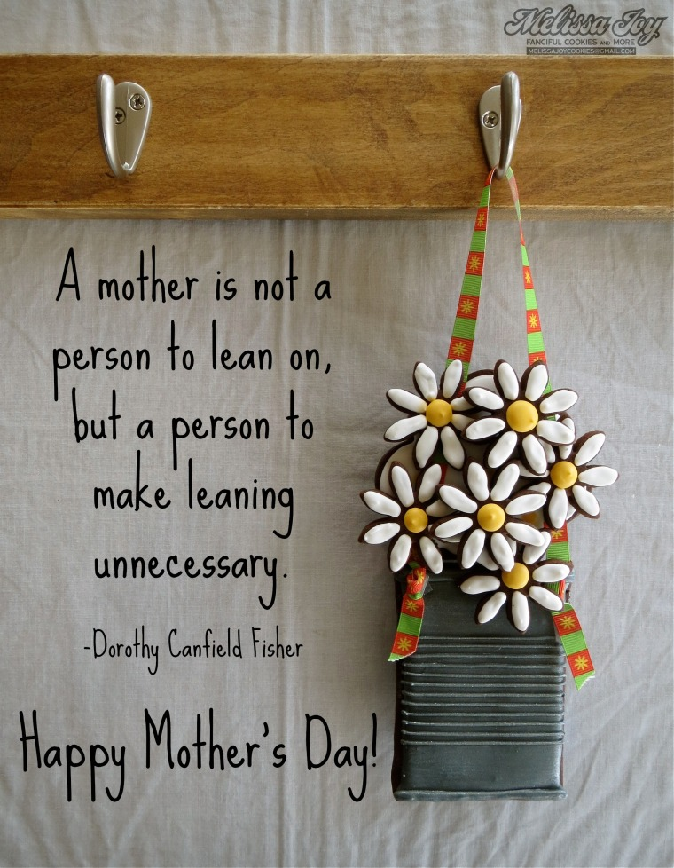 mother's day quote daisies