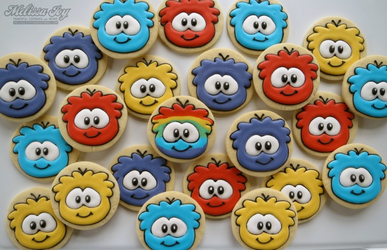 rainbow puffles by melissa joy cookies