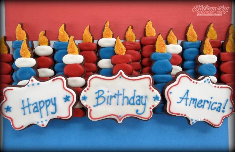 Happy Birthday America Cookies