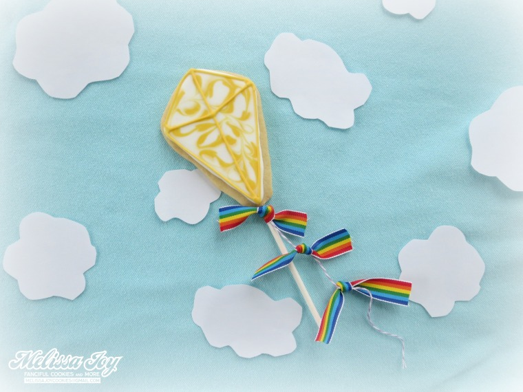 kite lollipop cookie