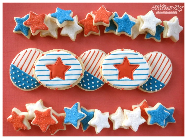 Flag and Star Cookies by Melissa Joy