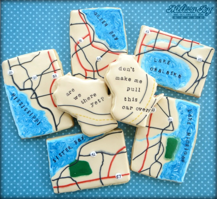 Map and State cookies by Melissa Joy