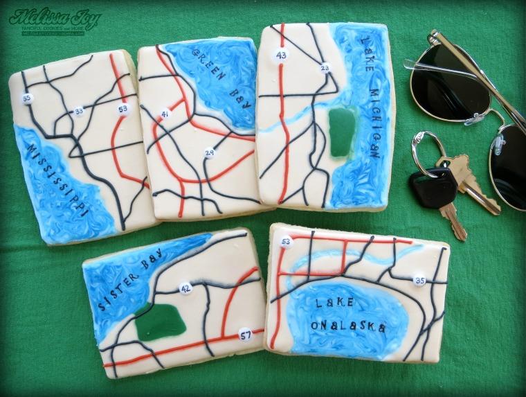 Map Cookies by Melissa Joy