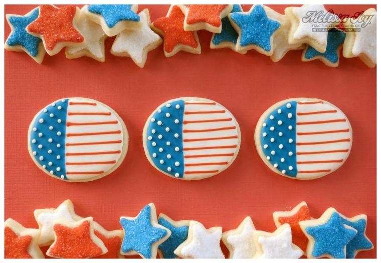 Melissa Joy Flag Cookies