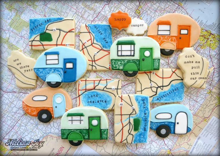 Road Trip cookie set by Melissa Joy