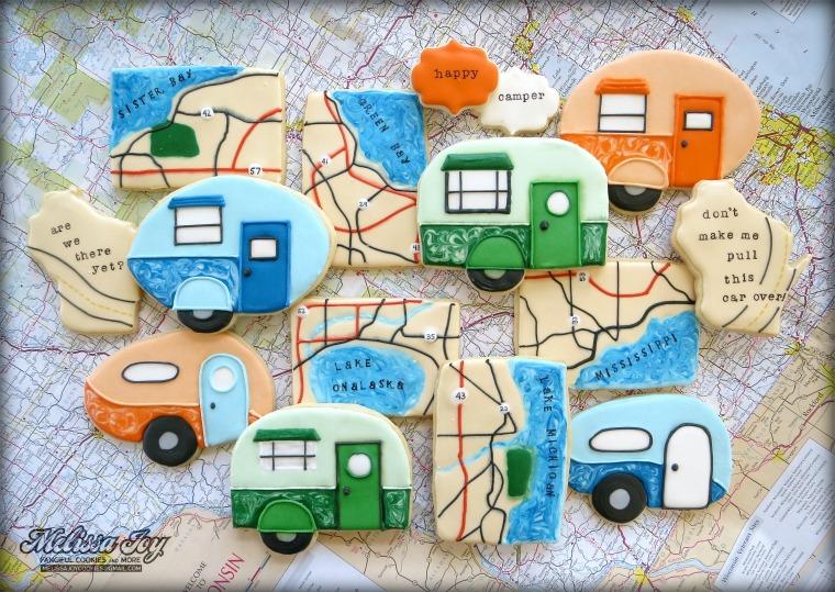 Road Trip cookie set by Melissa Joy