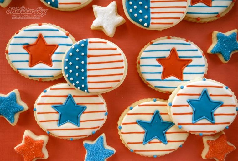 star cookies with one flag