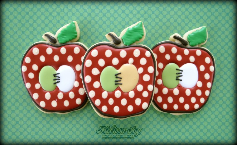 Apple Cookies By Melissa Joy Cookies