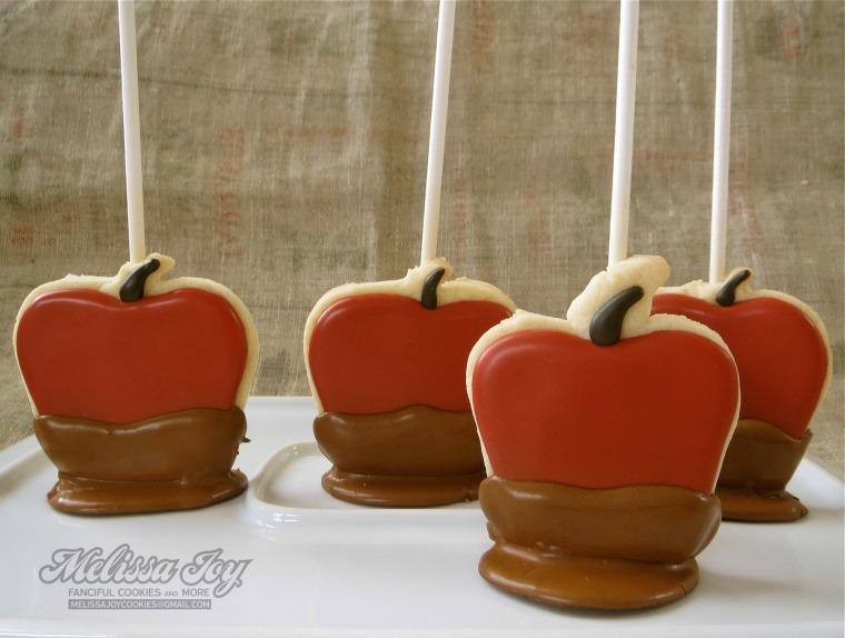 Caramel Apples by Melissa Joy Cookies