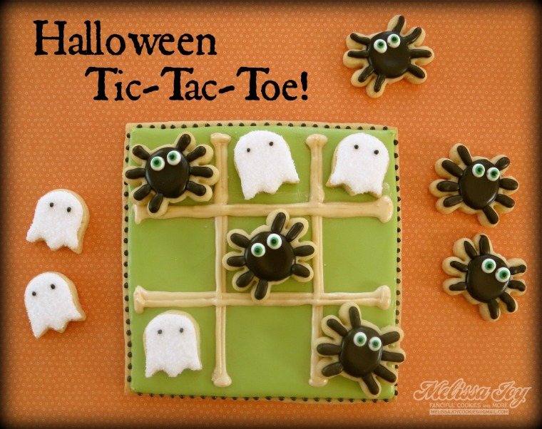 Halloween Tic Tac Toe Cookies by Melissa Joy