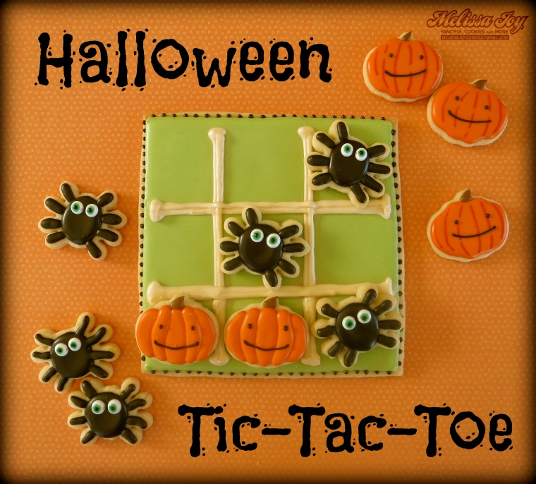 Halloween Tic-Tac-Toe Cookies by Melissa Joy