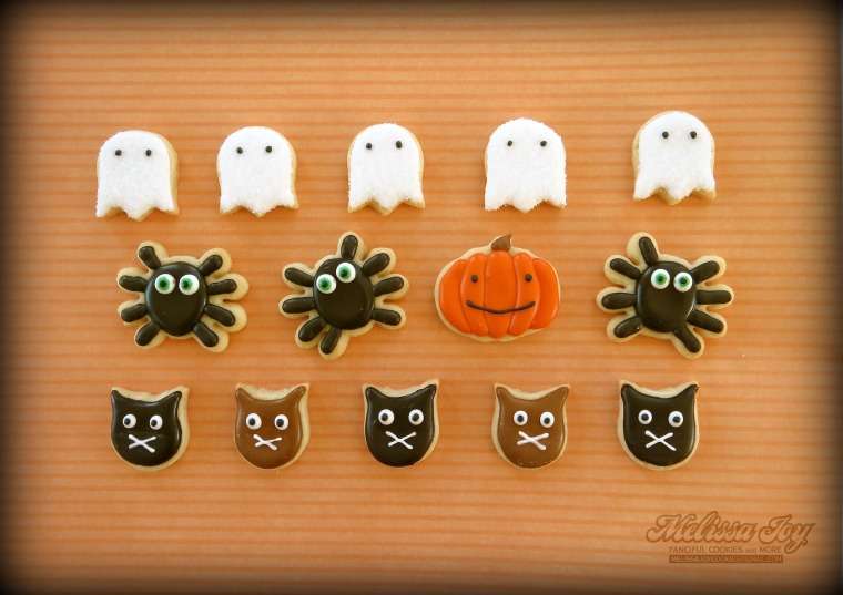 Mini Halloween Cookies by Melissa Joy
