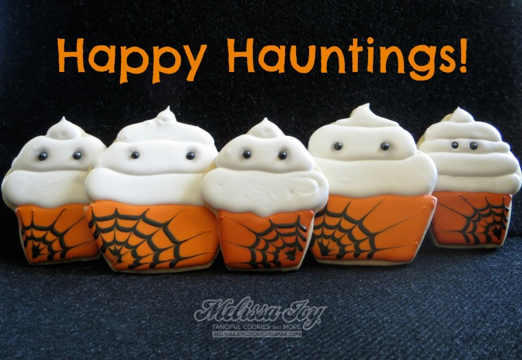 halloween cupcake cookies by melissa joy cookies