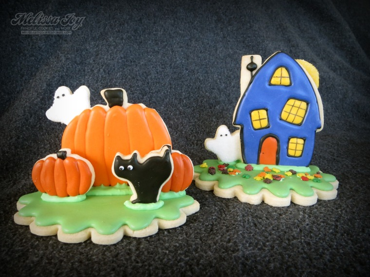Haunted House and Pumpkin Cookies by Melissa Joy