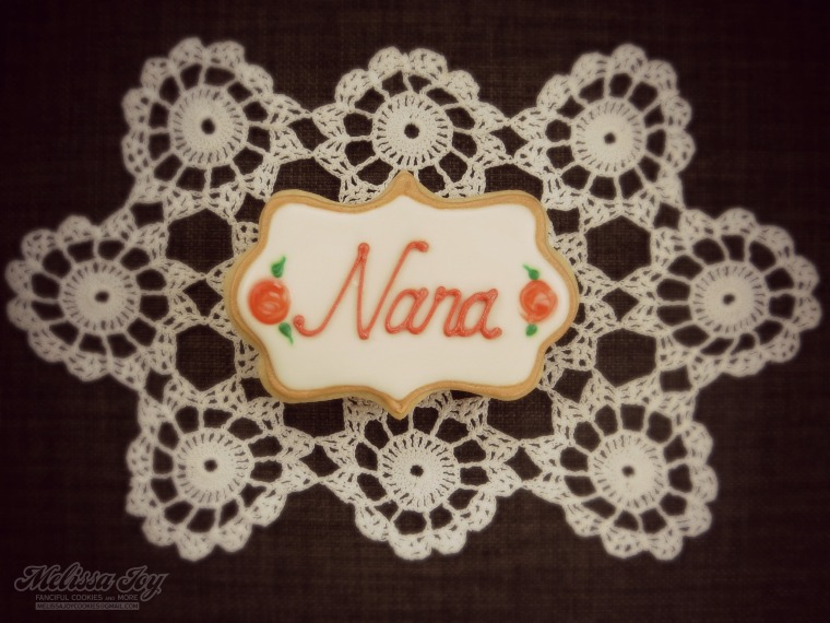 Nana cookie with filter by melissa joy