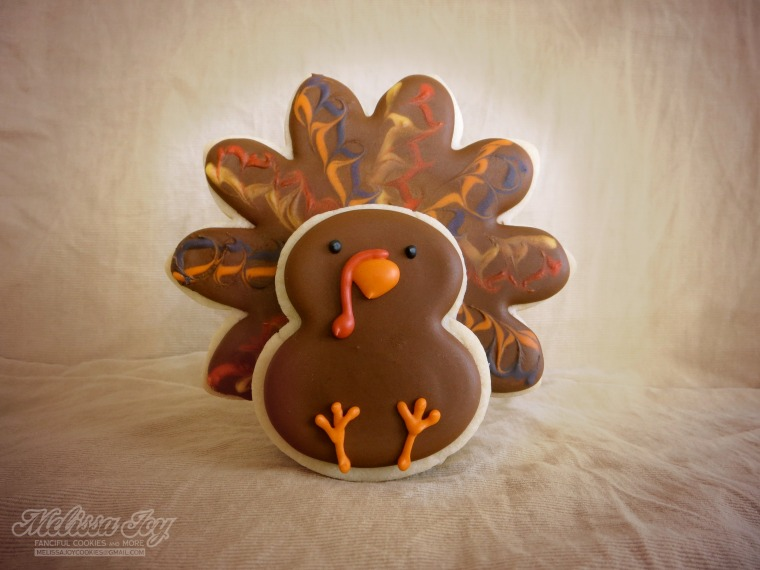 Thanksgiving Turkey Cookie by Melissa Joy