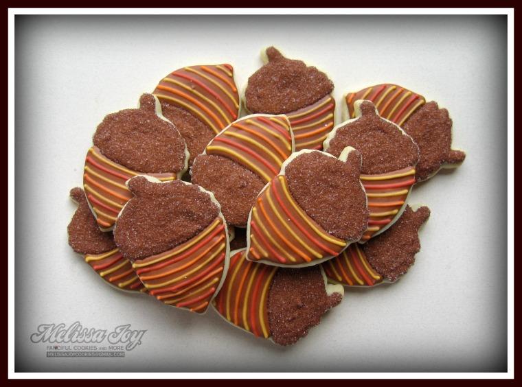 fall acorns by melissa joy cookies
