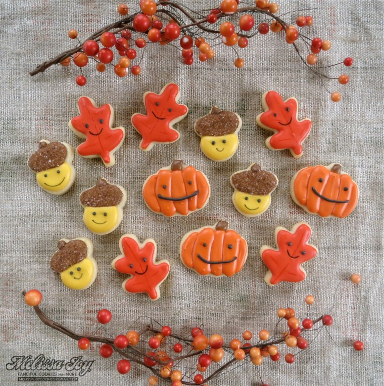 Fall Mini Cookies by Melissa Joy