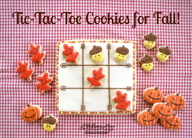 Fall Tic Tac Toe Cookies by Melissa Joy