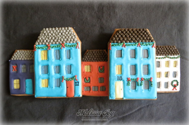 Gingerbread Houses #17 & #18 by Melissa Joy Cookies
