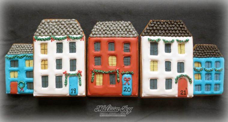 Gingerbread Village #19, 20 & 21 by Melissa Joy Cookies