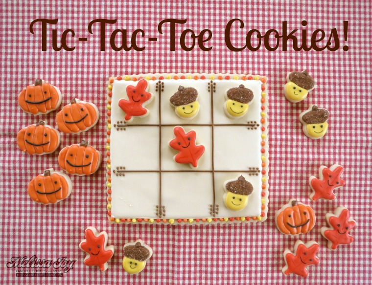 Thanksgiving Cookies Tic Tac Toe by Melissa Joy