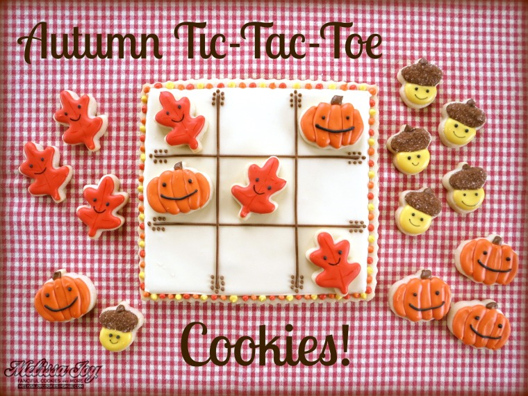 Thanksgiving Tic Tac Toe Cookies by Melissa Joy