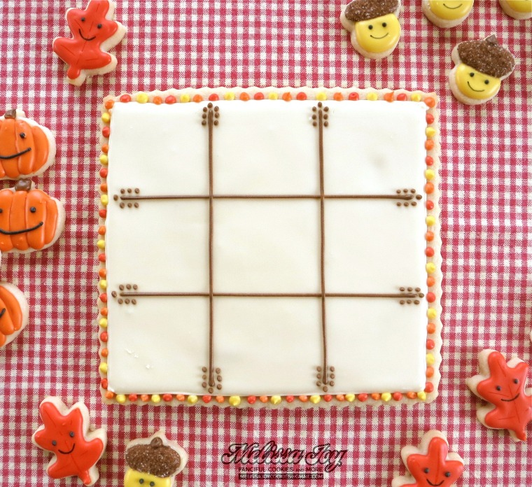 Tic Tac Toe Board by Melissa Joy Cookies