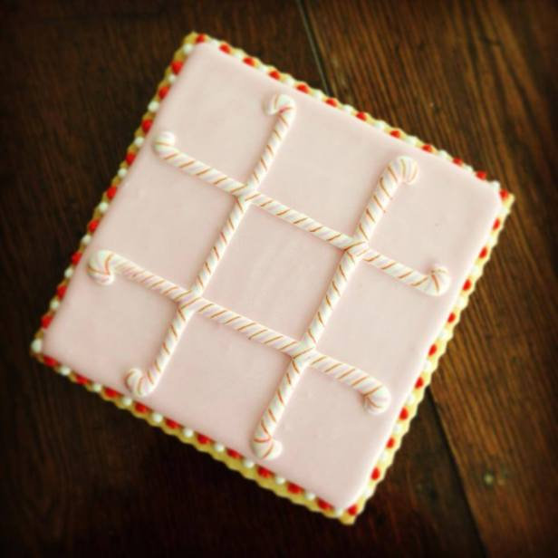 Cookie Christmas Tic Tac Toe Board by Melissa Joy Cookies