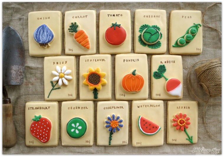Seed Packet Cookies by Melissa Joy Cookies
