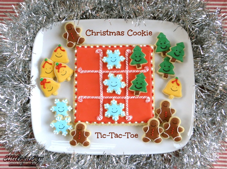 Christmas Cookie Tic-Tac-Toe by Melissa Joy Cookies
