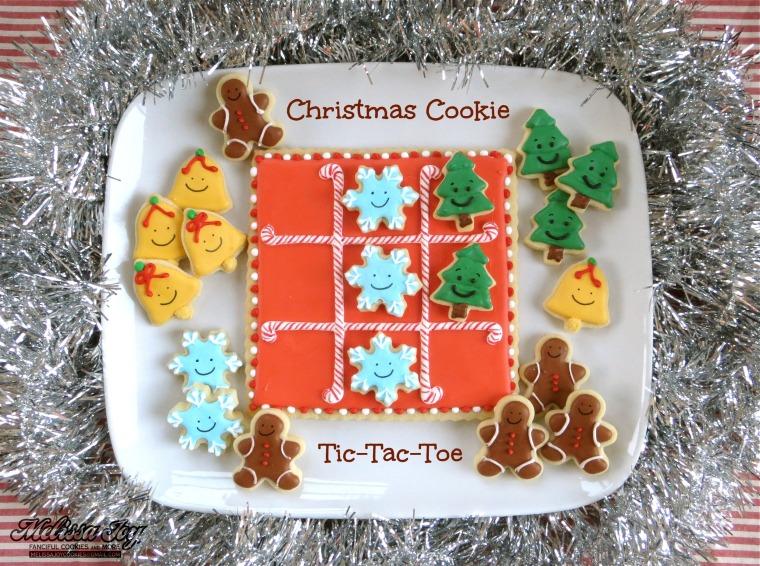 Christmas Cookie Tic-Tac-Toe by Melissa Joy Cookies