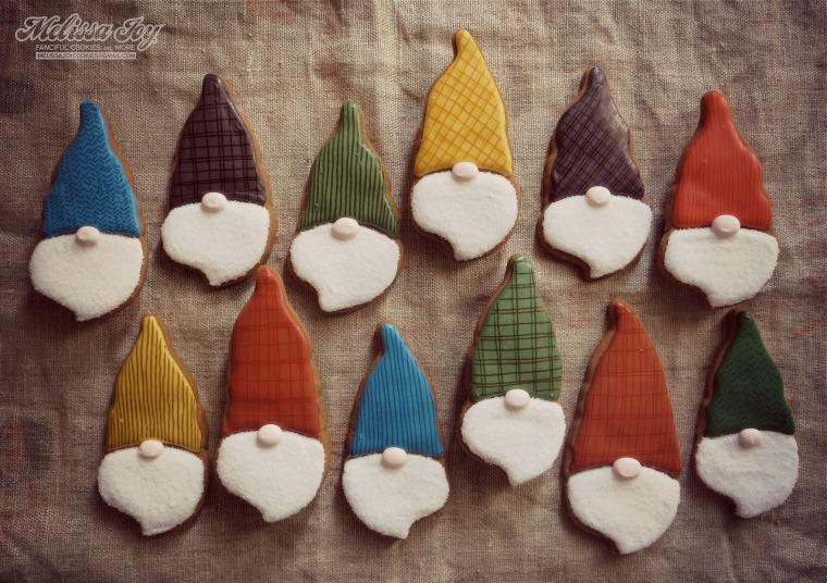 Christmas Santa Gnomes by Melissa Joy