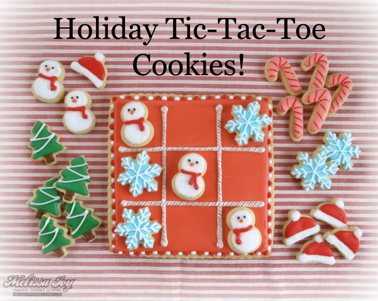 Christmas Tic Tac Toe Cookies by Melissa Joy Cookies