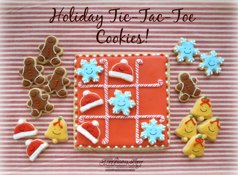 Christmas Tic Tac Toe Cookies by Melissa Joy