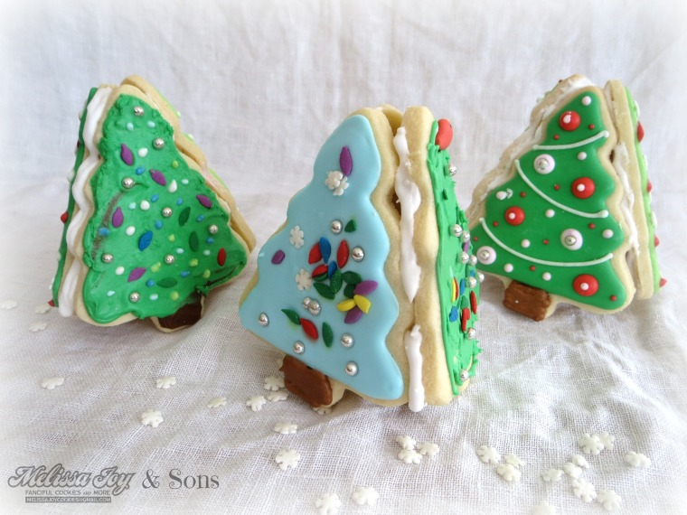 Christmas Tree Cookie Boxes by Melissa Joy Cookies