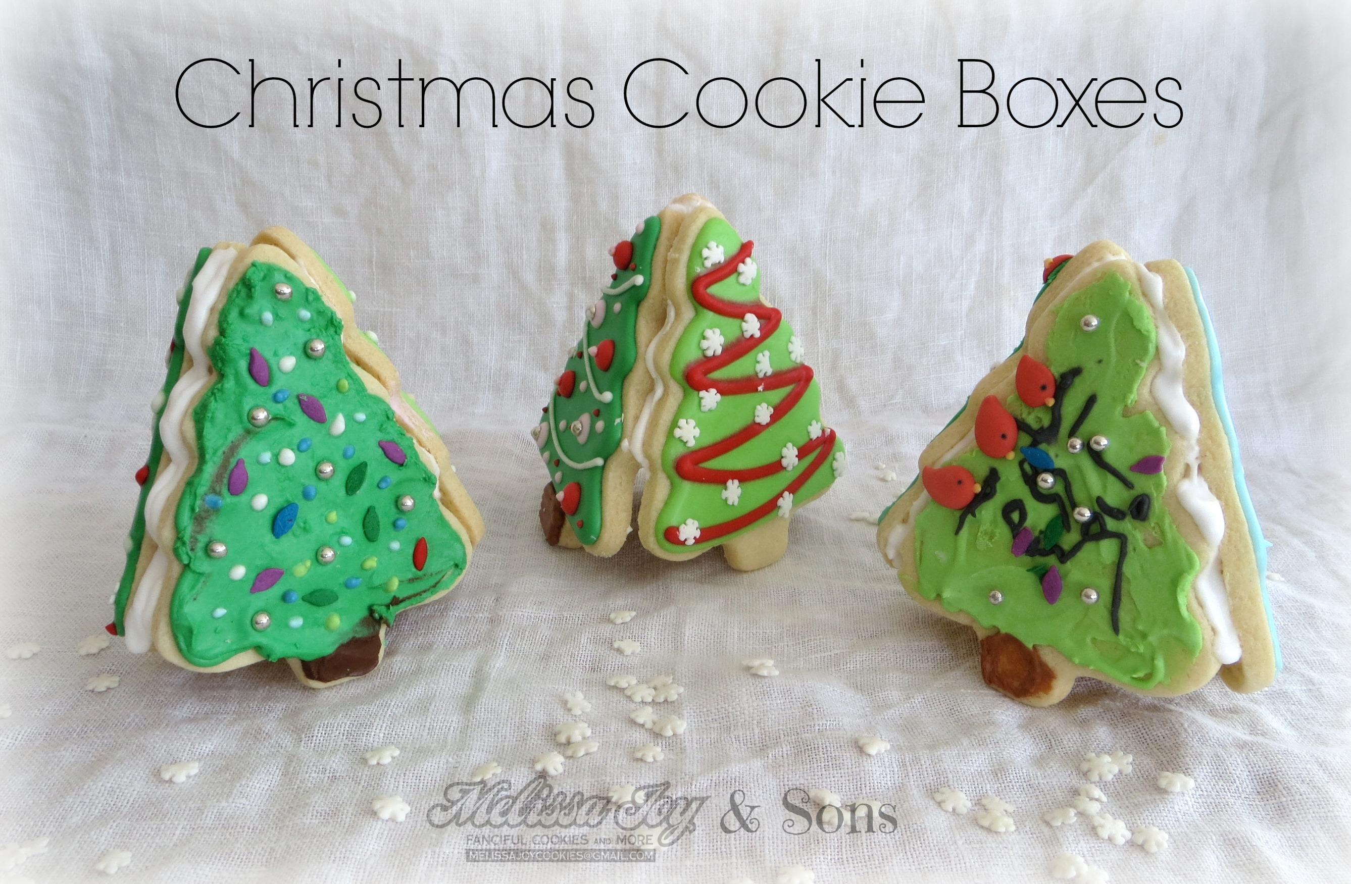 Christmas Tree Cookie Boxes By