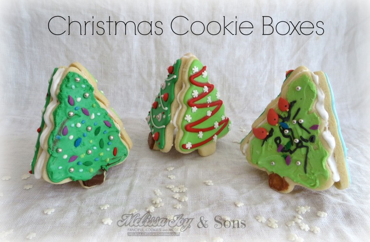 Christmas Tree Cookie Boxes by Melissa Joy