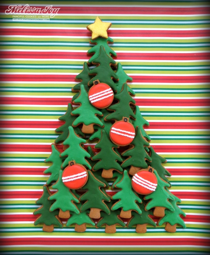 Christmas Tree Cookie Platter by Melissa Joy Cookies