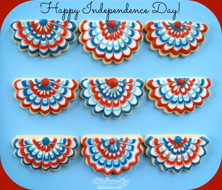 Forth of July Bunting Cookies by Melissa Joy Cookies