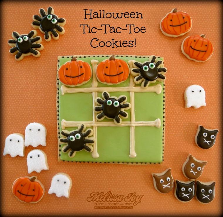 Halloween Tic Tac Toe Cookies by Melissa Joy