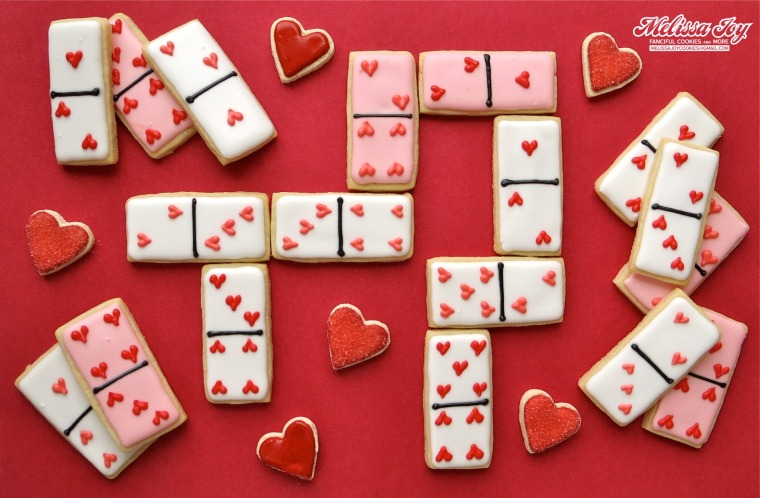 Valentine's Day Domino Cookies by Melissa Joy Cookies