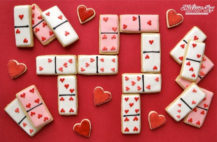 Valentine's Day Domino Cookies by Melissa Joy Cookies