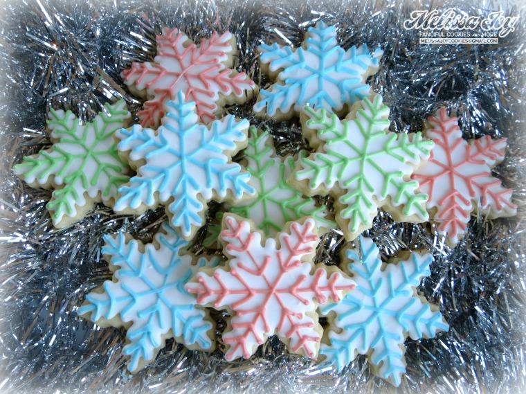 Pastel Snowflakes by melissa joy cookies