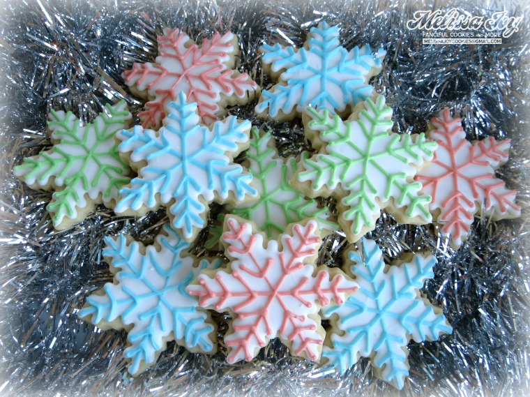 Pastel Snowflakes by melissa joy cookies